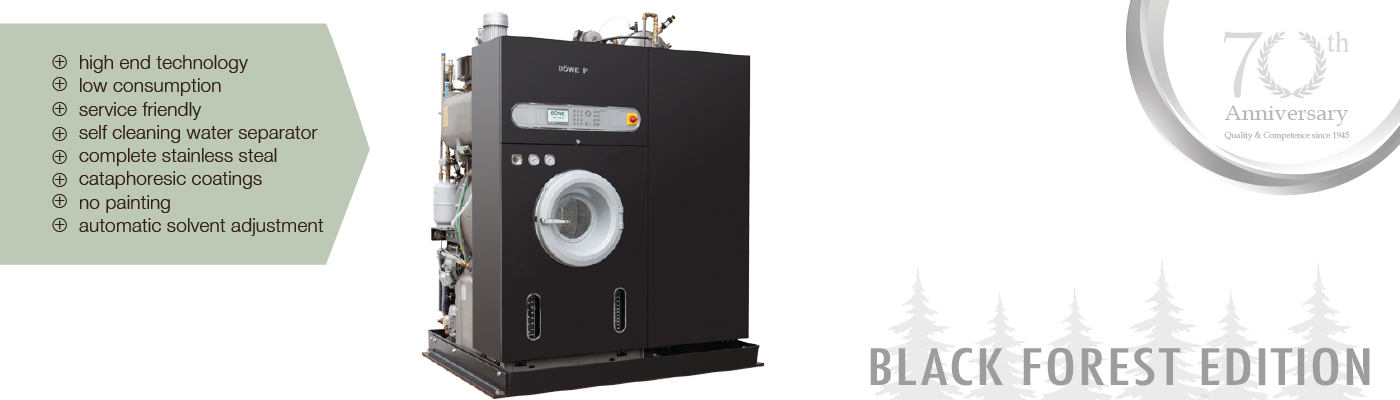 BOWE textile Cleaning GmbH - Slimline - Crossline - BOWE Drycleaning Machine
